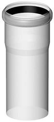Rookgasafvoer buis  80 mm  L=250mm kunststof PP