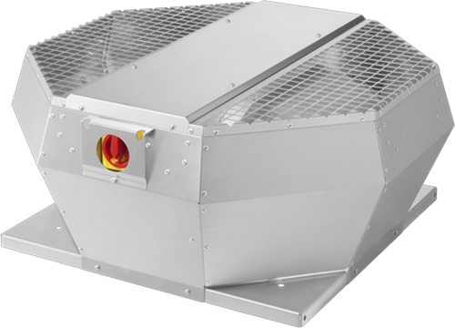 Ruck dakventilator verticaal met EC motor, werkschakelaar en constante drukregeling 1970m³/h - DVA 280 ECCP 31