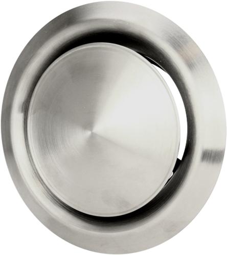 RVS ventilatie toevoer en afvoer ventiel Ø 100 mm met montagebus - DVI100 (DVI100)