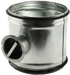 Handbediende regelklep Ø450mm voor spiraalbuis