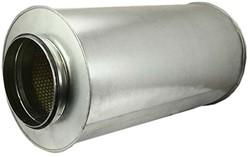Ronde geluiddemper diameter  450 mm - L=600 mm (sendz. verz.) (50 mm iso)