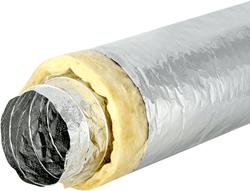 Sonodec akoestisch thermisch 82 mm geisoleerde ventilatieslang (1 meter) (uitlopend)