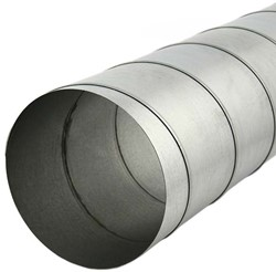 Spiraalbuis diameter 200 mm lengte 1.5 meter van verzinkt staal