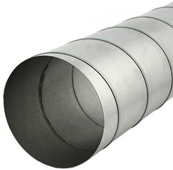 Spiraalbuis diameter 80 mm lengte 1.5 meter van verzinkt staal