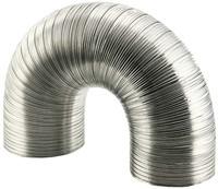 Starre aluminium ventilatieslang diameter 160 mm lengte 1.5 meter