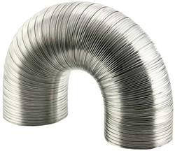 Starre aluminium ventilatieslang rond Ø 250mm lengte 3 meter