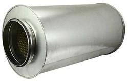 starre ronde geluiddemper diameter: 125 mm lengte 600 mm voor spirobuis