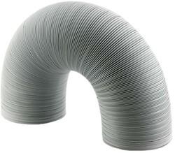 Starre witte aluminium ventilatieslang diameter 120 mm lengte 1.5 meter