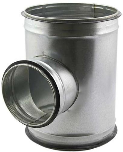 T-stuk diameter 160 mm met aftakking naar 160 mm voor spirobuis (90 graden)