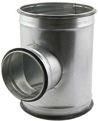 T-stuk diameter 200 mm met aftakking naar 200 mm voor spirobuis (90 graden)