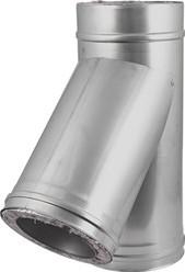 DW diameter 80 mm (80/130) T-stuk T135 I316L/I304 (D0,5/0,6)