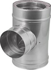 DW diameter 100 mm (100/150) T-stuk T90 EW I316L/I304 (D0,5/0,6)