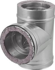 DW diameter 200 mm (200/250) T-stuk T90 I316L/I304 (D0,5/0,6)