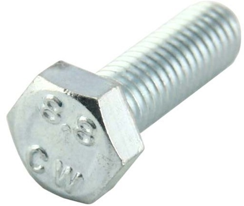 Tapbout m10x25mm.gegalv.8.8 din933 (200 stuks)