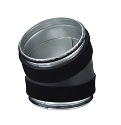 Thermoduct bocht 30 graden diameter 125 mm