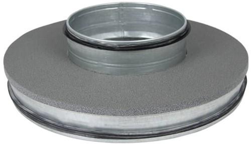 Thermoduct deksel 315mm met vlakke tuit 160mm geisoleerd