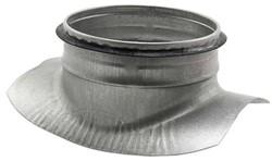 Thermoduct zadelstuk 90 graden met aftakking diameter 125mm