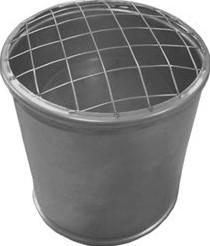 Topsectie open met gaas diameter 550 mm