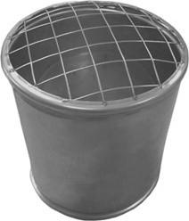 Topsectie open met gaas diameter  100 mm