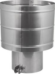 Trekkende kap diameter  600 mm I316L (D0,6)