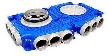 Vent-Axia Uniflexplus ventilatie hoofdverdeelbox 18x Ø63mm met tuit Ø125mm