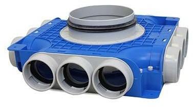 Vent-Axia Uniflexplus ventilatie subverdeelbox 12x diameter 63 mm met tuit diameter 160 mm