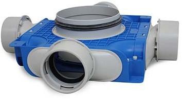 Vent-Axia Uniflexplus ventilatie subverdeelbox 4x diameter 90 mm met tuit diameter 180 mm