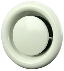 Ventilatie afvoer ventiel metaal Ø 125 mm wit met klemveren - DVSC125