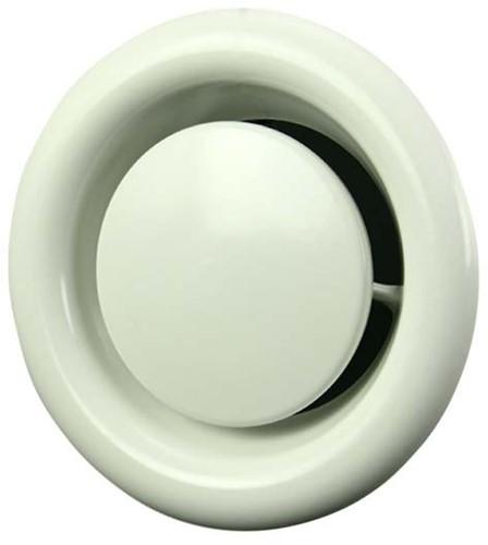 Ventilatie afvoer ventielen metaal 80mm wit met klemveren - DVSC-80