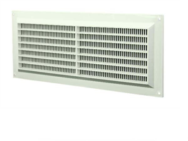 Ventilatierooster kunststof (rechthoekig met grill)