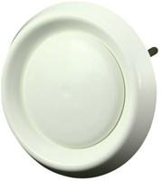 Ventilatie ventielen kunststof rond Ø100mm wit met klemveren - (DAV100)-1