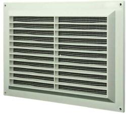 Ventilatierooster rechthoekig met grill 250x170 wit  - VR2517