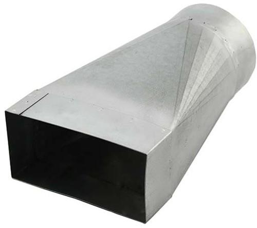 Verloopstuk 220x80 naar diameter 150 mm tbv instortkanaal