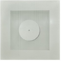 Vierkant rooster geperforeerd 315 mm voor systeemplafond - bovenaansluiting
