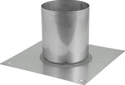 Vloerplaat diameter  80 - 150 mm gelaste opstand I304