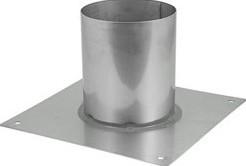 Vloerplaat diameter  310 - 400 mm gelaste opstand I304