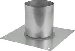 Vloerplaat diameter  210 - 300 mm gelaste opstand I304 (32014362)