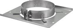 Vloerplaat diameter  80 - 150 mm met beugel I304 (32014106)