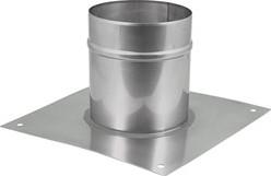 Vloerplaat diameter  80 - 150 mm opstand I304