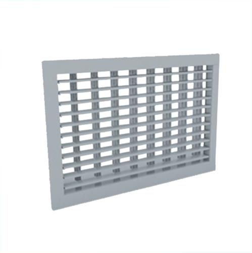 Wandrooster 300x150 staal met schroefbevestiging en dubbel instelbare schoepen - mengkleur RAL 7001