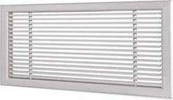 Wandrooster L-1-2 400x150-H-1-12,5-RAL9010