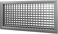 Wandrooster B-2-1 500x400-H instelbaar