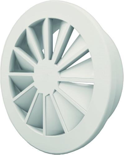 Wervelrooster 160 mm met geïsoleerd plenum en zijaansluiting 125 mm  - mengkleur RAL 9003