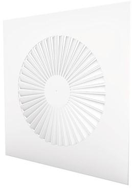 Wervelrooster vierkant 600x600 vaste schoepen 500 mm