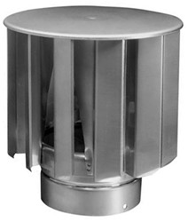 Windgedreven ventilator VT turbine 125mm RVS - 350m3/h