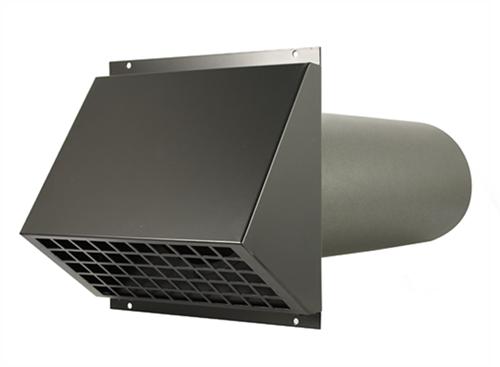 WTW HR Aluminium geveldoorvoer Ø150mm Zwart inclusief buis