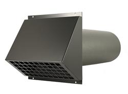 WTW HR Aluminium geveldoorvoer Ø180mm Zwart inclusief buis