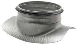 Zadelstuk 90° diameter 150-160mm met aftakking naar diameter 125mm tbv spiro buis