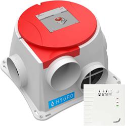 Zehnder ComfoFan S Hygro CO2 ventilator + vochtsensor + RF hoofdbedieing met CO2 - euro stekker