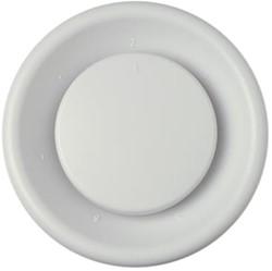 Zehnder Ventilatie afvoer ventielen kunststof 125mm wit verpakt - STK 1 100/125